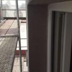 Použití lešení při revitalizaci bytového domu
