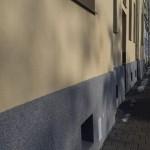 Sokl bytového domu po zateplení